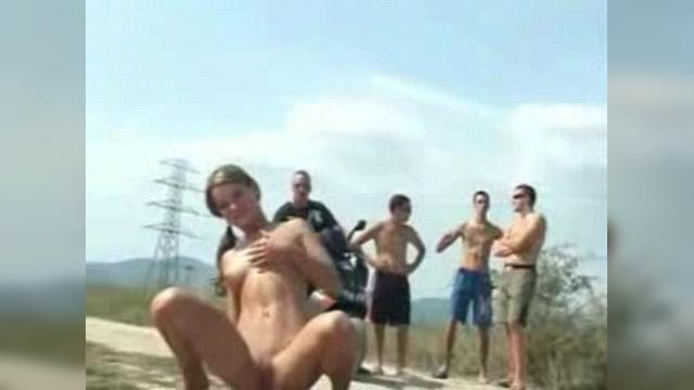 Wild Teen Girl Gets Naked on Side of Road
