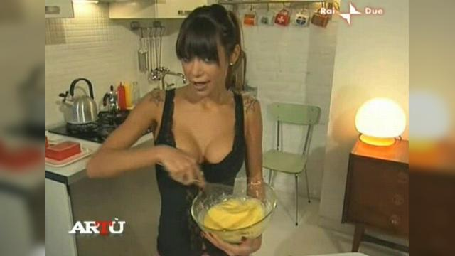 Elena Grimaldi Toples in TV Show