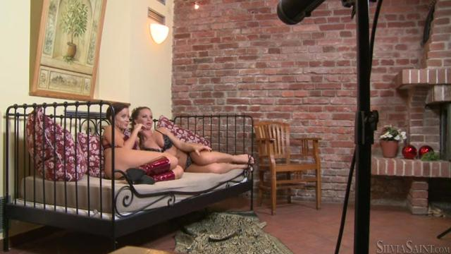 Silvia Saint, Cindy Dollar BTS Steaming Up The Bedroom