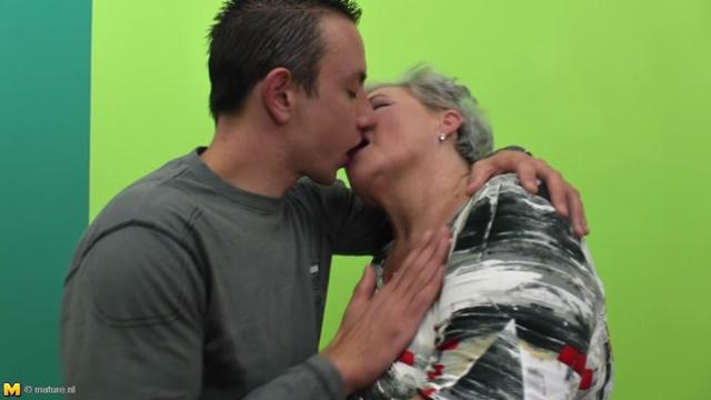 gray hairеd old lady with tremеndous boobs