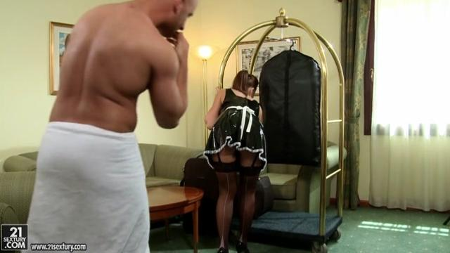 PVC maid Cindy Dollar takes it in the ass