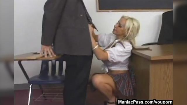 Anal for bigtitted blonde in school