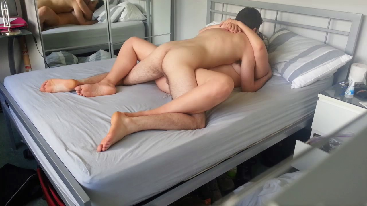 German couple are unaware of the hidden camera while having sex in bed porn pics