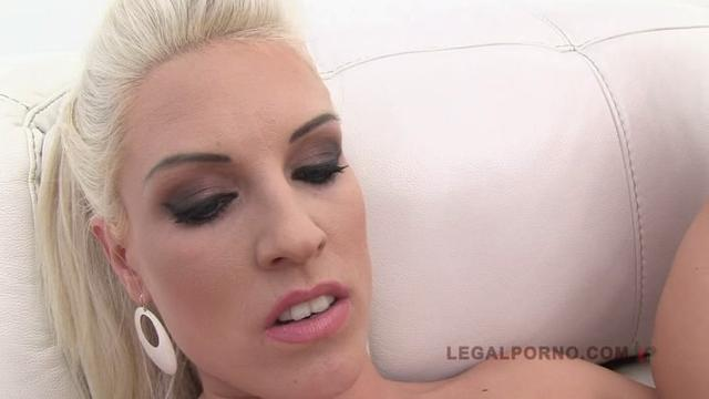 Karina Grand, Blanche Bradburry double anal foursome