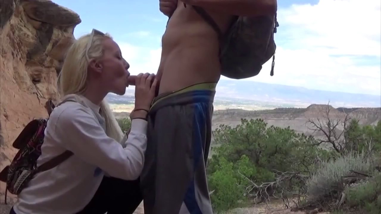 Hot Pov Blowjob By The Stream While Hiking Porn Photo