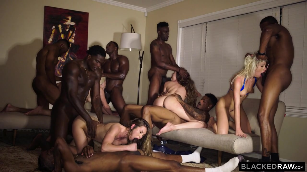 The wildest interracial college orgy party